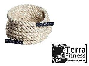 Corda Naval Sisal com pegada . 10mX36mmØ - Terra Fitness