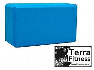Bloco Eva Tijolinho Yoga / Pilates 21cm X 11cm X 8cm - Az - Terra Fitness