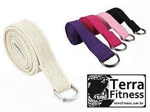 Cinto de Algodão Para Yoga - Pt - Terra Fitness