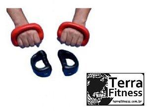 Luva Halter Emborrachado 1Kg / Par - Pt - Terra Fitness