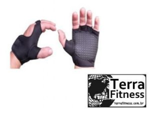 """Luva Musculação em Neoprene """"P"""" / Par - Terra Fitness"""