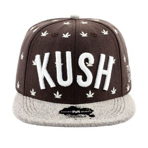 Boné Aba Reta Snapback Young Money Kush Marrom 0569d5faec2