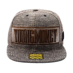 Boné Aba Reta Snapback Young Money YME5011 Marrom df116dd9abb