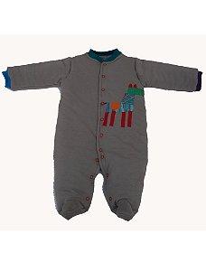 Macacão Esquimó Cinza Cavalinho para Bebê