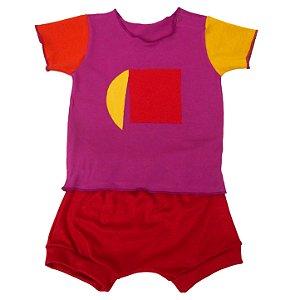 Conjunto Shorts e Camiseta para Bebê Menina