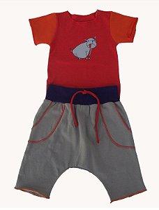 Conjunto Calça e Body Estampado para Bebê