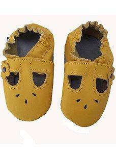 Sapato Babo Uabo Amarelo para Bebê