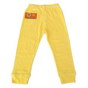 Calça Legging Amarela Bordada 2 anos