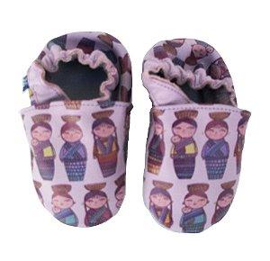 Sapato Babo Uabo Bonecas Roxa para Bebê
