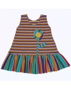 Vestido Listrado para Bebê