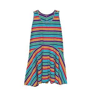 Vestido Cavado Multicolorido