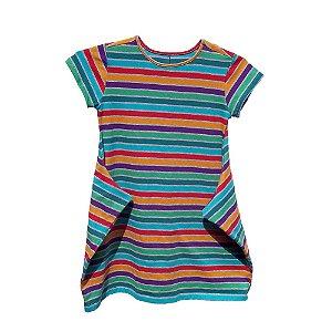 Vestido Infantil Listrado Multicolorido