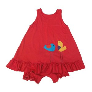 Vestido Vermelho para Bebê