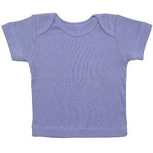 Camiseta Manga Curta Básica para Bebê Lilás Feminino