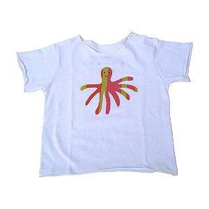 Camiseta Segunda Pele Branca Polvo