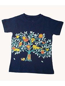Camiseta Manga Curta em Malha Marinho