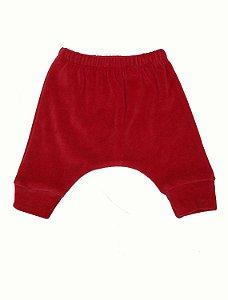 Calça Saruel em Plush Vermelho para Bebê