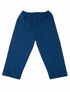 Calça Moleton Azul Infantil para Bbmoderno