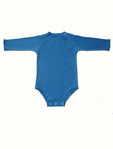 Body Manga longa Azul para Bebê