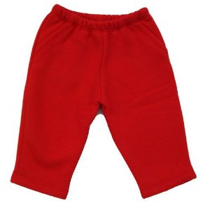 Calça Moleton Vermelho para bebê