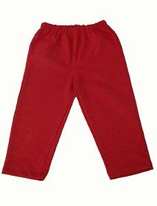 Calça Moleton Infantil Vermelha