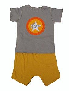 Conjunto calça e camiseta para Bebê
