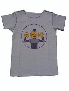 Camiseta Cinza Manga Curta