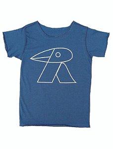 Camiseta Azul Manga Curta