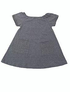Vestido Infantil Prata para Festa