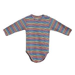 Body em Malha Colorida para Bebê Unissex