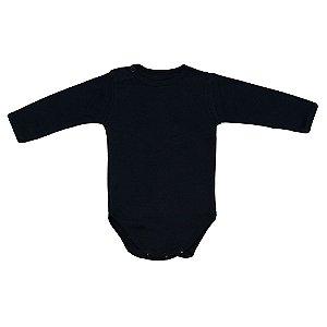 Body em Malha Marinho para Bebê Unissex