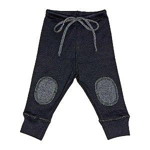 Calça legging em malha Preta para Bebê