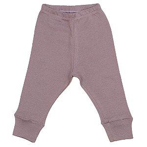Calça Legging em malha Lilás para bebê Unissex