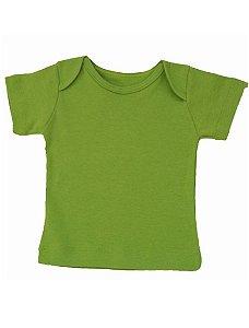 Camiseta Manga Curta Básica Verde para Bebê