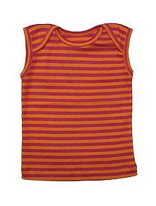 Camiseta Cavada Básica para Bebê Listrada Feminino