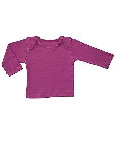 Camiseta Manga Longa em Malha Básica Maravilha para Bebê Feminino