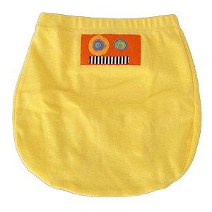 Shorts Tapa Fralda em Malha Amarela para Bebê Unissex