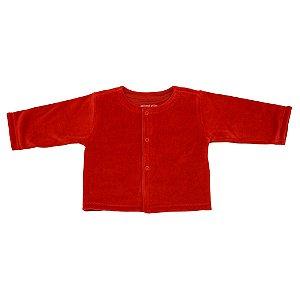 Casaco em Plush Vermelho Infantil