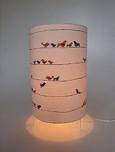 Luminária de Mesa Pássaros no Fio