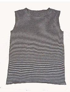 Camiseta Cavada Listrada Marron Bbmoderno