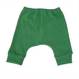 Calça Saruel em Malha Verde para Bebê