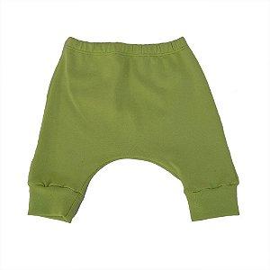 Calça Saruel em Malha Verde Limão para Bebê
