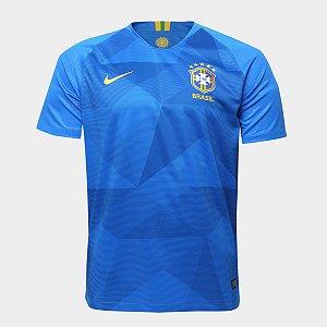 Camisa Seleção Brasileira 2018 Azul Original Nike Modelo Jogador