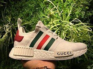 Tênis adidas Nmd R1 Gucci Branco Preto Importado Promoção