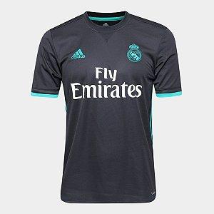 Camisa Do Real Madrid Preta E Roxa Cinza Branco Lançamento