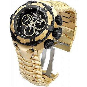 Relógio Invicta Bolt Zeus 21346 Dourado Fundo Preto Prova D'agua