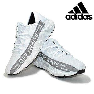Tênis Adidas Off White Masculino Importado Branco com Cinza Pronta Entrega