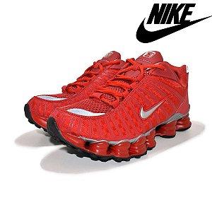 Tênis Nike shox 12 Molas Vermelho Masculino Premium Importado Pronta Entrega
