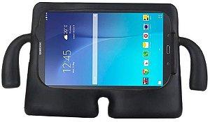 Capa para Tablet Samsung Galaxy Tab 7.0 Polegadas Emborrachada Anti Impacto e Choque Infantil iGuy Preta Fina