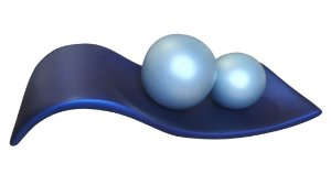 Centro de Mesa Azul Esferas Cerâmica Cinza Fosco